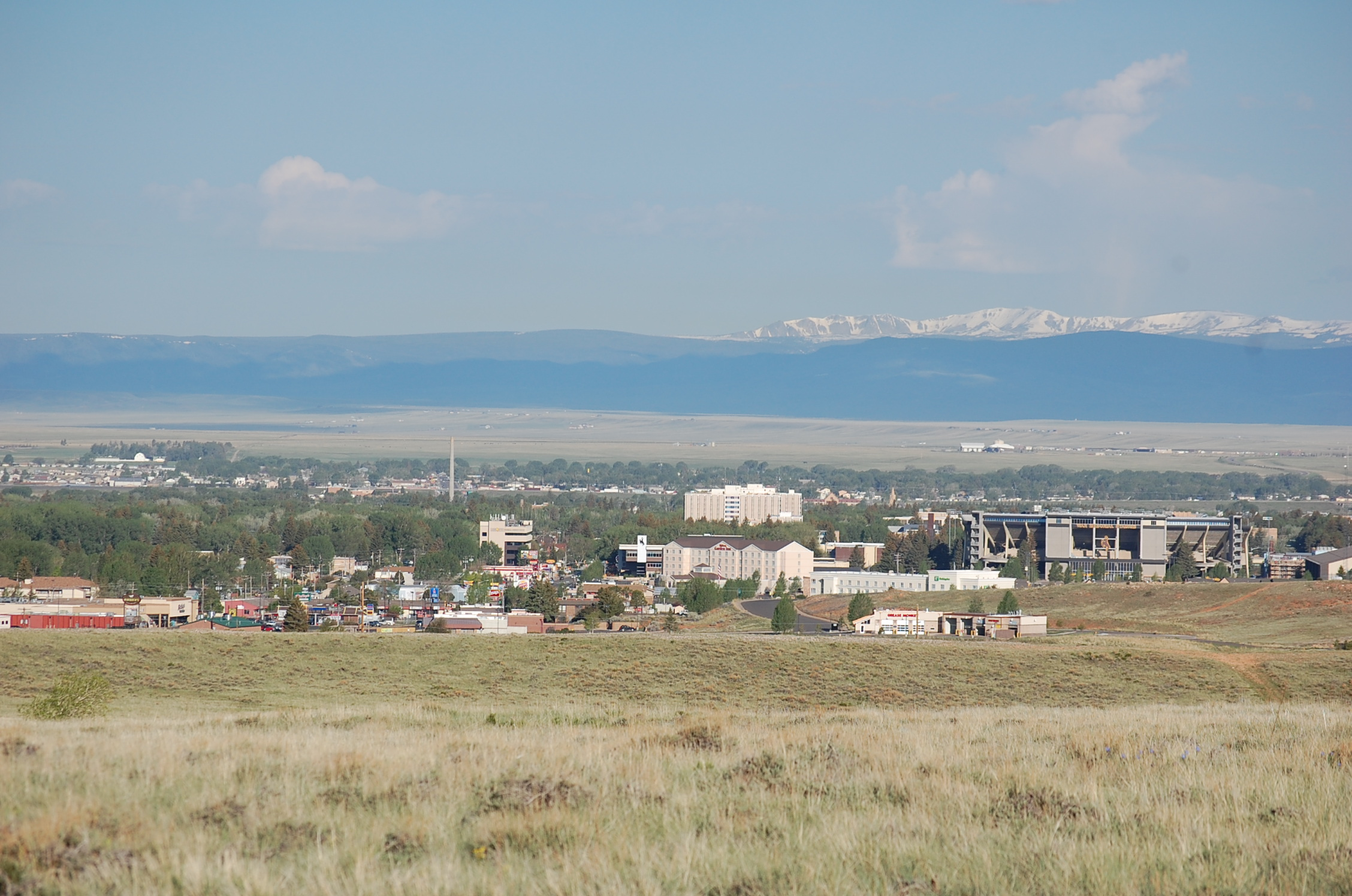 View of the City of Laramie from the Casper Aquifer location. Photo credit: Bern Hinckley