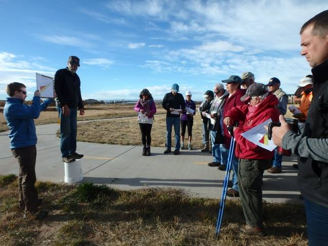 Group tours the Casper Aquifer